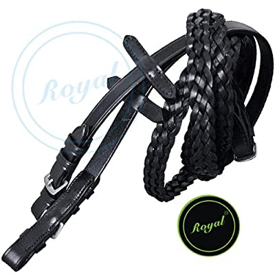 Royal Braided Reins./ Vegetable Tanned Leather./ Stainless Steel Buckles.