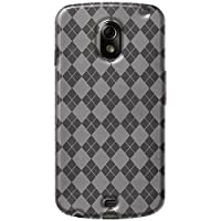 Amzer AMZ92683 Luxe Argyle High Gloss TPU Soft Gel Skin Case for Google Galaxy Nexus (Clear)