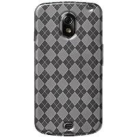 Amzer AMZ92683 Luxe Argyle High Gloss TPU Soft Gel Skin Case For Google Galaxy Nexus (Clear)
