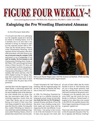 Figure Four Weekly #1024, Feb. 6, 2015 -- Eulogizing the end of the PWI Almanac (Figure Four Weekly compare prices)