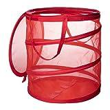 IKEA(イケア) FYLLEN レッド 90191260 ランドリーバスケット、レッド