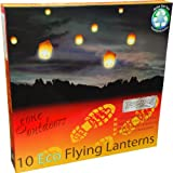 NEW Eco Chinese Flying Sky Lanterns Pack of 10 - Biodegradable/No Metal Parts