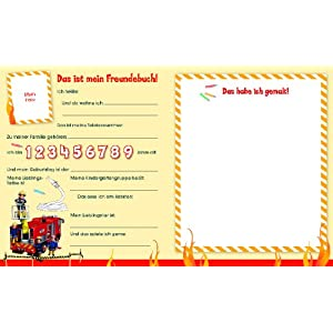 Feuerwehrmann Sam Kindergartenfreundebuch: Meine Kindergartenfreunde
