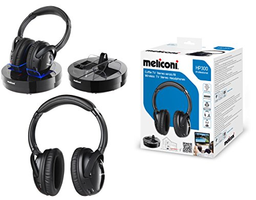 meliconi hp 300 professional cuffie stereo wireless con base di ricarica. Black Bedroom Furniture Sets. Home Design Ideas