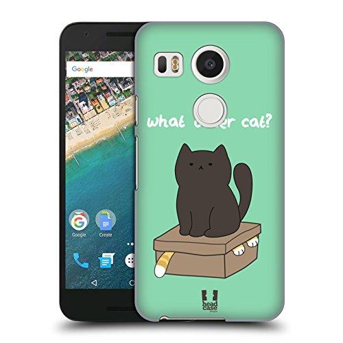 Head Case Designs What Other Cat Ceiling Cat Vs Basement Cat Cover Retro Rigida per LG Nexus 5X