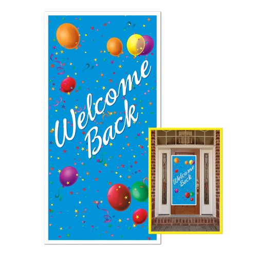 Welcome Back Door Cover Party Accessory (1 count) (1/Pkg)