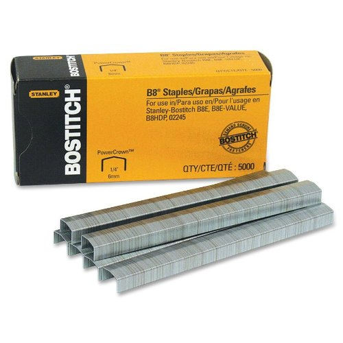"Stanley Bostitch B8 Powercrown Premium 1/4"" Staples (Stcr21151/4)"