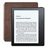 New - Kindle Oasis E-reader with Leather Charging Cover - Walnut, 6