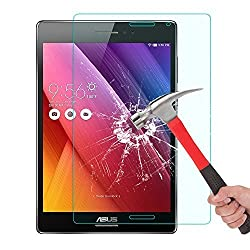 ASUS ZenPad S 8.0 (Z580C) Glass Screen Protector, OMOTON Tempered-Glass Screen Protector with [9H Hardness] [Premium Crystal Clear] [Scratch-Resistant] [No-Bubble Installation], Lifetime Warranty