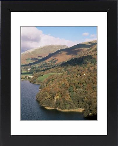 Framed Artwork of Grasmere in autumn, Lake District National Park, Cumbria, England, United