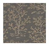 York Wallcoverings WD2950 Walt Disney Signature Serene Meadow Trees Wallpaper, Ash/Deep Taupe/Gold Metallic