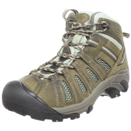 Keen Women's Voyageur Mid Hiking Boot,Drizzle/Surf Spray,9 M US