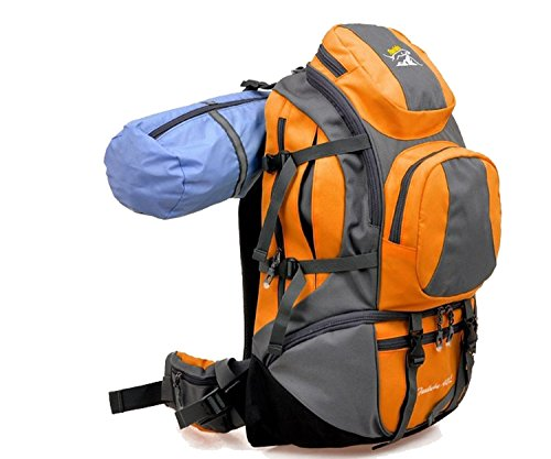 Zerd 45L Professional Mountaineering Camping Travelling Backpack Orange