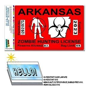 Zombie hunting car interior design for Arkansas fishing license