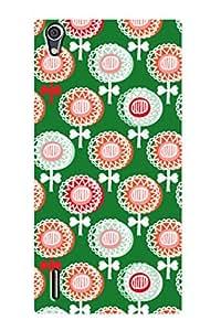 ZAPCASE PRINTED BACK COVER FOR HUAWEI ASCEND P7- Multicolor