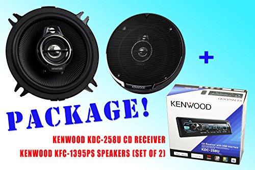 Package ! Kenwood Kdc-258U Cd-Receiver + Kenwood Kfc-1395Ps Car Speakers
