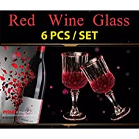 6 Pieces / Set Red Wine Glass Cup Crystal Glasses Cup For Bar Party Drinking Wholesale Prices | Wine Glasses |...