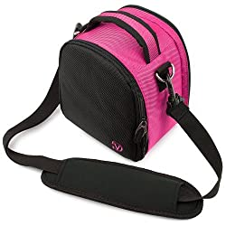 MAGENTA HOT PINK Compact Entry Level Canon Camera Bag for Canon EOS Rebel T5i T3 T3i T2i T1i XS EOS 60D 7D 5D Mark III 3 Mark II 2