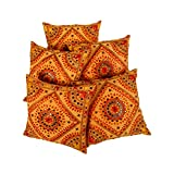 Attractive Set Of 5 Floral 16 X 16 Embroidered Cotton Cushion Cover By Rajrang