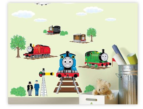 thomas and friends peel stick wall decal children room