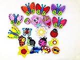 20 Butterfly Dragonfly Ladybug Flowers Charms Fits Jibbitz Croc Shoes & Wristband Bracelet