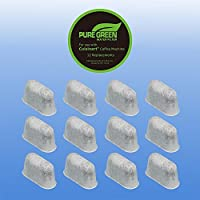 PureGreen WaterFilter 12-replacement Charcoal Water Filters for Cuisinart Coffee Machines DCC-RWF