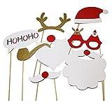 SUNBEAUTY フォトプロップス 8点セット クリスマス 誕生日会 結婚式 店のディスプレイ 前撮り写真小道具 吹き出す ステック装着済み すぐ使える
