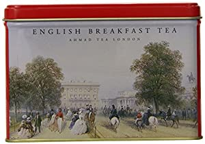 Ahmad Tea English Breakfast Teabags, Heritage Caddy, 25 Count (Pack of 12)
