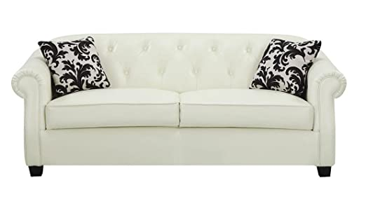 Kristyna Tufted Leather Sofa by Coaster