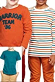 3 Pack Cotton Rich Striped Warrior T-Zhirts [T88-1096E-Z]