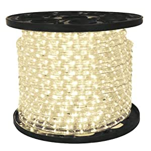 led warm white rope light 1 2 in 2 wire 120. Black Bedroom Furniture Sets. Home Design Ideas