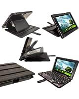 """igadgitz 'Guardian' Noir Étui Housse en Cuir PU pour Asus Transformer Pad & Dock Clavier TF700 TF700T Infinity 10.1"""" Android Tablette"""