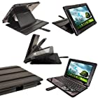 iGadgitz Black 'Guardian' PU Leather Case Cover for Asus Transformer Pad & Keyboard Dock TF700 TF700T Infinity 10.1 Android Tablet