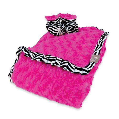 Pink Zebra Throw Blankets