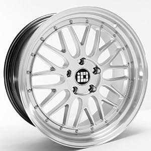 LMR 19″x8.5 19″x9.5 BMW 3 5 Series Staggered Wheels Rims Hyper Silver Lip 4pc-1set