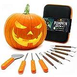 Joyousa Pumpkin Carving Tools Kit Heavy Duty Stainless Steel Jack-O-Lantern Halloween- 10 Piece