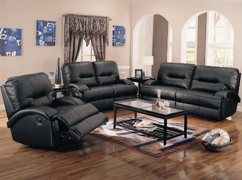 Buy Low Price AtHomeMart 3PC Contemporary Motion Sofa, Loveseat, and Recliner Set (COAS600501_600502_600503_3PC)