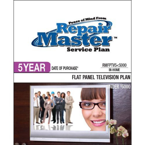 Repair Master 5-Yr Date Of Purchase Flat Panel Tv Plan - Under $5000