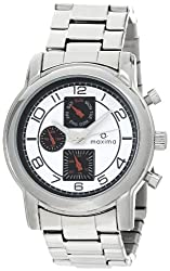 Maxima Attivo Analog White Dial Mens Watch - 26830CMGI