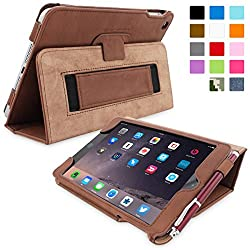 Snugg Leather Case with Flip Stand and Elastic Hand Strap for Apple iPad Mini & iPad Mini 2 Retina (