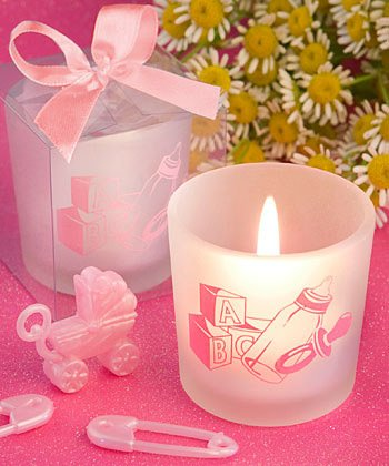 Favor Saver Collection Baby Girl Themed Candle Favors, 80