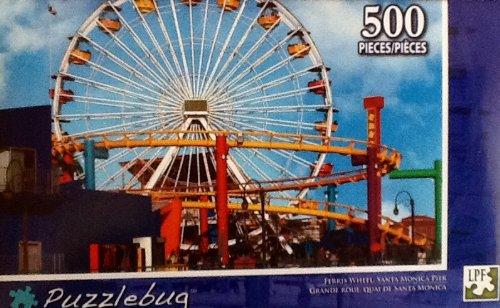 Ferris Wheel Santa Monica Pier!! 500 Piece Jigsaw Puzzle By Puzzlebug - 1