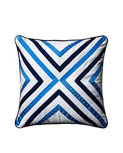 Happy Chic by Jonathan Adler Elizabeth X Pillow, White/Blue