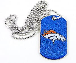 NFL Denver Broncos Glitter Dog Tag
