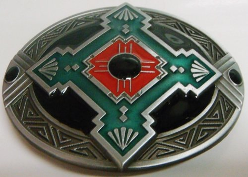 Hopi Peace Sign Design Belt Buckle (Brand New)
