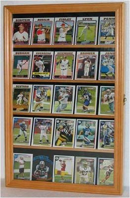 Baseball, Football, Basketball Sport Card Display Case Holder -OAK (CC01-OA) (Card Display Frame compare prices)