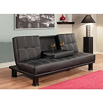 ABBYSON LIVING Signature Relax In Style And Sophistication With The Black Convertible Sofa