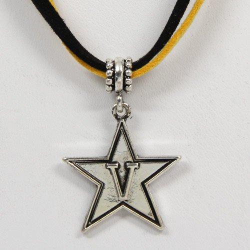 NCAA Vanderbilt Commodores Black-Gold Double Cord Necklace