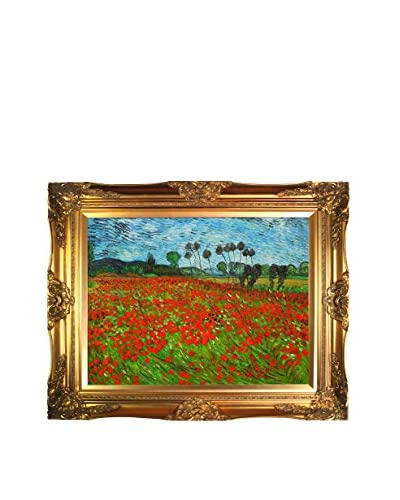 Vincent Van Gogh Field Of Poppies Hand-Painted Reproduction