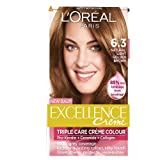 L'Oreal Paris Excellence Hair Colour Kit, Natural Light Golden Blonde Number 6.3 - Pack of 3